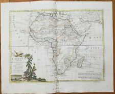Zatta Large Original Map Continent Africa - 1779