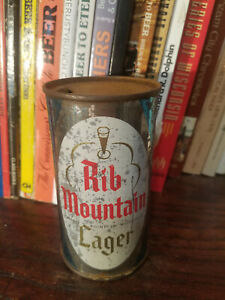 Rib Mountain Lager 12oz Flat Top Beer Can