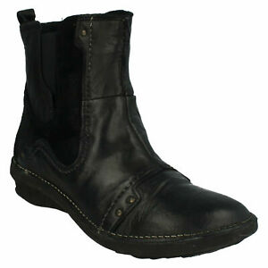 KHRIO 27146RNN LADIES LEATHER BLACK EVERYDAY SMART FLAT WINTER ANKLE BOOTS SHOES