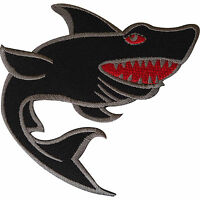 Shark Patch Iron Sew On Clothes Bag Embroidered Badge Fish Embroidery Applique