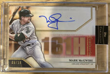 Mark McGwire 2020 Topps Luminaries Hit Kings Red Autograph #HK-MMC 5/10 A's