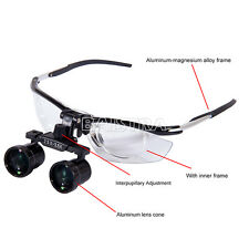 UK Dental Medical Binocular Loupes Aluminum Variable Glasses 2.5X-3.5X 2 in 1 MB
