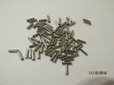 250 x 8mm nickel / rame pesca in mare Crimps 1,2 mm di diametro interno