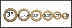 1- Rings Natural Wood Wood Ring Craft Ring Toss Silk Streamers Baby Rings Wooden