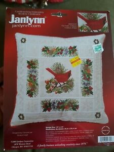 Janlynn Candlewicking Embroidery Kit Cardinals Pillow #004-0779 Colors Winter