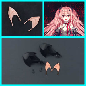 Anime Seraph Of The End Krul Tepes Headwear Hairpin Ear 3Pcs/Set Cosplay Props