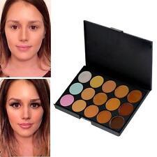 15 Contorno Corrector paleta bajo facial para ojos Crema Maquillaje Cremoso Paleta oscuro.
