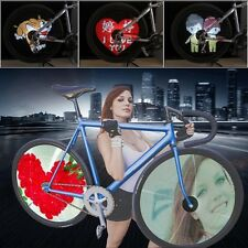 2x 416 LED Programmable DIY Cool Pictures Bicycle Bike Flash Tyre Wheel Lights