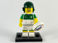 Genuine Lego Minifigures Series 19 Rugby Player Brand New 71025