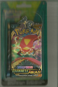 POKEMON SWORD & SHIELD DARKNESS ABLAZE FACTORY SEALED BOOSTER PACK WITH PIN