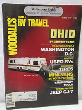 Woodall's Trailer & RV Travel Magazine March 1979 Watersports Guide Jeep CJ-7