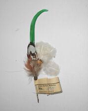 Old Hutfeder Vintage Nadler Sebnitz Handarbeit 1950er Deko Feder hat feather (12