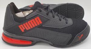 Puma Leader VT Bold Leather/Nylon Trainers 192674-01 Black/Red UK10/US11/EU44.5