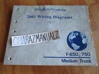 2001 Ford F 650 F 750 Medium Truck Wiring Diagrams Service Manual Ebay