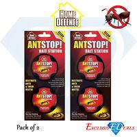Pack of 4 x Ant Killer Trap Ant Stop Bait Station Destroy Ant Nests Home Defence