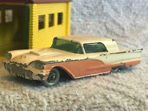 Vintage Lesney Matchbox 75a Ford Thunderbird GPW Dark Blue Base GC