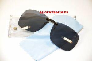 Clip On für Eye Max Eyemax Brillen Sonnenclip Polarisierend in Grau Clip Neu