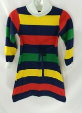 VTG Florence Eiseman Multicolor Striped Long-Sleeve Dress Kids 7