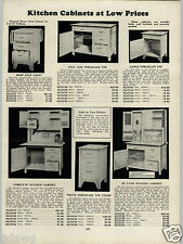1930 PAPER AD Hoosier Type Kitchen Cupboards Cabinet Deluxe Porcelain Flour Bin