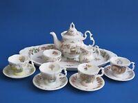 Royal Doulton Brambly Hedge 12 Piece Miniature Tea Service Set - All 4 Seasons