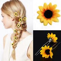 Wedding Bridal Prom Yellow Sunflower Hair Pins Hair Accessory Hair Clips