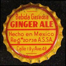 BEBIDA GASEOSA GINGER ALE CORK SODA BOTTLE CAP CROWN AGUA PRIETA, SONORA, MEXICO