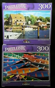 300 piece jigsaw puzzle  Puzzlebug  Boats  Nepal River (New & sealed)