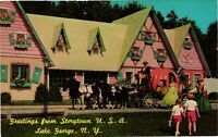 Vintage Postcard - Storytown USA Lake George Ghost Town NEW YORK NY #3829
