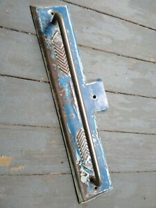 Antique Vintage Rustic Large Store Door Gate Garage Handle Shabby Blue Paint