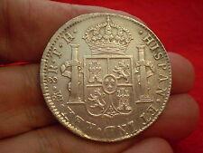 Beautiful High Grade 1807 Carolus 1111 Silver 8 Reales Mexico MO.TH Silver Coin