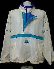 Vintage New Balance Windbreaker Jacket 1/4 Zip White Teal Purple Size Large