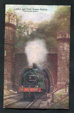 C1930s View: Steam Train Going Through a Tunnel: London & North Eastern Railway