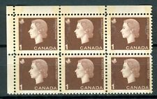 Canada #401piii 404iii Corner Block 6 UL Cameo Wide Narrow Tag Bars MNH