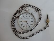 Antique sterling silver Waltham pocket watch, working