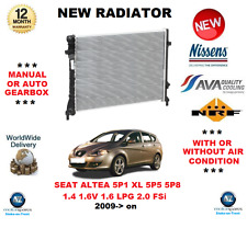 Para Seat Altea MPV 5P1 XL 5P5 5P8 1.4 1,6v 1.6 LPG 2.0 FSI 2009->On Radiador