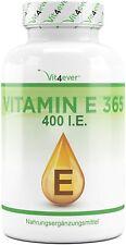Vitamin E - 365 Softgel Kapseln á 400 I.E. - Natürlich aus Sonnenblumen gewonnen