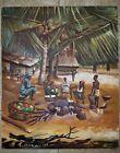"Vtg Original Oil Painting Art M.Soumah Sierra Leone West Africa 16.5"" x 20"""