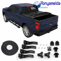 HARD SOLID TRI-FOLD TONNEAU COVER FOR 2016-2018 TOYOTA TACOMA 5FT SHORT BED FRP