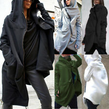 UK 10-24 ZANZEA Plus Size Women Hooded Coat Outwear Jacket Hoodie Sweatshirts