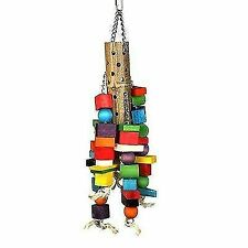 Happy Pet Bamboo Supersize Wooden Parrot Toy 00791