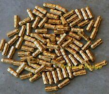 Lucas style brass Bullet Connectors 1mm Sq (17g) - Shop qty 100 crimp or solder