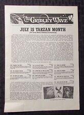 1963 The Gridley Wave #10 Vg- 3.5 Tarzan - Edgar Rice Burroughs 4pgs