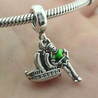 925 Sterling Silver Disne Park Peter Pan And Flying Ship Charm Dangle 2018 New