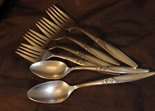 7 PC LOT FLATWARE CUTLERY TABLEWARE 1881 ROGERS ONEIDA STAINLESS HIGHLAND ROSE