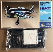 ITALERI 803 - GRUMMAN F8F-2 BEARCAT - 1/48 PLASTIC KIT NUOVO