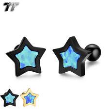 TT Surgical Steel Opal Ear Cartilage Tragus Earrings (TR46) 2020 NEW