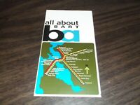 1972 BART SYSTEM METRO SAN FRANCISCO MAP TRANSPORTATION GUIDE