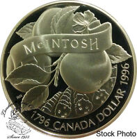 Canada 1996 $1 200th Anniversary John McIntosh Proof Silver Dollar -Capsule Only