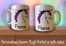 Personalised Unicorn Rainbow Funny Cute Novelty Coffee Gift Tea Mug Christmas