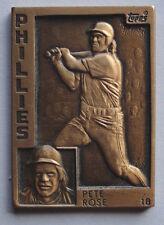Pete Rose 1984 Topps Gallery of Champions Bronze Philadelphia Phillies